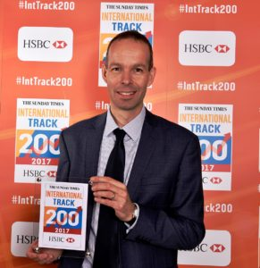 Marketing Director, Richard Owen-Hughes, collecting the award